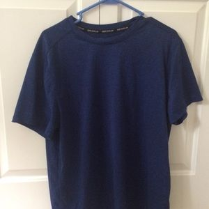Blue and Black Athletic Shirt